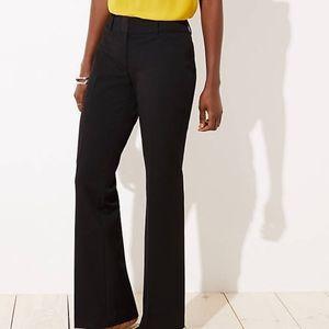 Ann Taylor Loft Black Trouser Dress Pants Chino 8